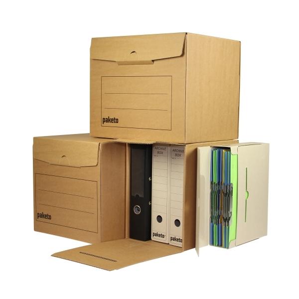 0f69ae52e Archivačná krabica na 4 šanóny, 315x295x327, s potlačou   paketo.sk