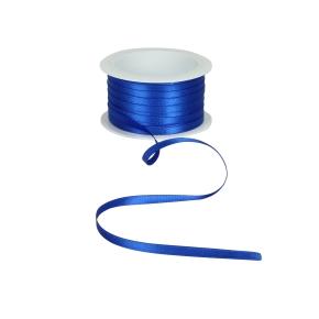 Atlasová stuha modrá, šírka 5 mm, dĺžka 20 m