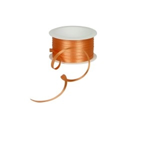 Atlasová stuha oranžová, šírka 5 mm, dĺžka 20 m