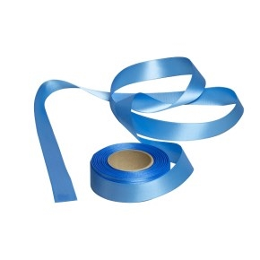 Atlasová stuha svetlo modrá, šírka 24 mm, dĺžka 20 m