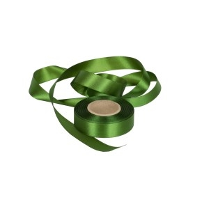 Atlasová stuha zelená, šírka 24 mm, dĺžka 20 m