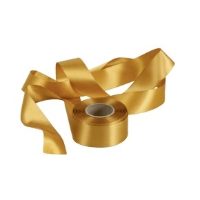 Atlasová stuha zlatá, šírka 40 mm, dĺžka 20 m