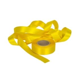 Atlasová stuha žltá, šírka 24 mm, dĺžka 20 m