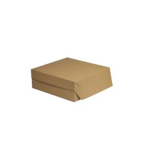 Cukrárska krabica 220x220x90 mm, hnedá - kraft