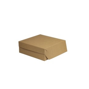 Cukrárska krabica 280x280x100 mm, hnedá - kraft