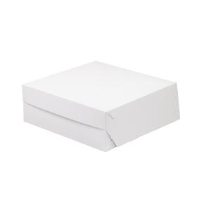 Cukrárska krabica 350x350x100 mm, bielo-sivá