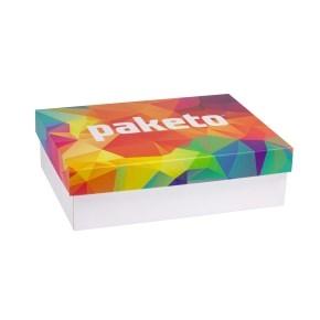 Darčeková krabica 350x250x100 mm, celopotlač veka, biela