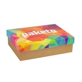 Darčeková krabica 350x250x100 mm, celopotlač veka, kraft
