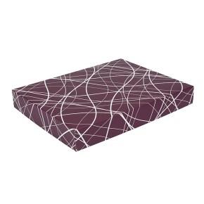 Darčeková krabica na košele 380x285x50/35 mm, vínová so vzorom na veku