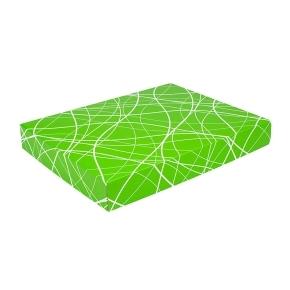 Darčeková krabica na košele 380x285x50/35 mm, zelená so vzorom na veku