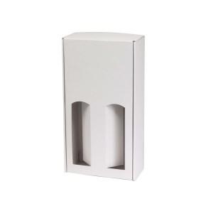 Darčeková krabica na víno 175x350x85 mm, 2 x 0,75 l, biela