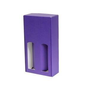 Darčeková krabica na víno 175x350x85 mm, 2 x 0,75 l, fialová