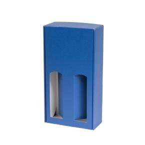 Darčeková krabica na víno 175x350x85 mm, 2 x 0,75 l, modrá
