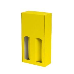 Darčeková krabica na víno 175x350x85 mm, 2 x 0,75 l, žltá