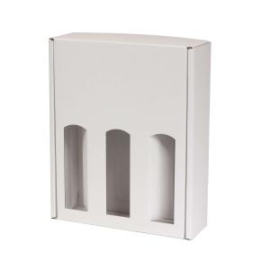 Darčeková krabica na víno 265x350x85 mm, 3 x 0,75 l, biela