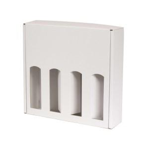 Darčeková krabica na víno 355x350x85 mm, 4 x 0,75 l, biela