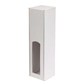 Darčeková krabica na víno 85x350x85 mm, 1 x 0,75 l, biela