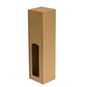 Darčeková krabica na víno 85x350x85 mm, 1 x 0,75 l, hnedá-kraft
