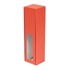 Darčeková krabica na víno 85x350x85 mm, 1 x 0,75 l, koralová