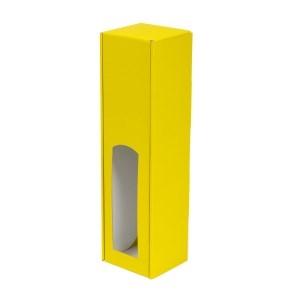 Darčeková krabica na víno 85x350x85 mm, 1 x 0,75 l, žltá
