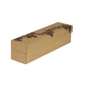 """Darčeková krabica na víno, hnedý kraft, vzor """"Réva"""", 85x333x85"""