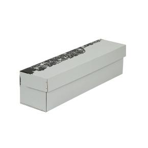 """Darčeková krabica na víno šedá, vzor """"hrozno-fľaša"""", 85x333x85 mm"""