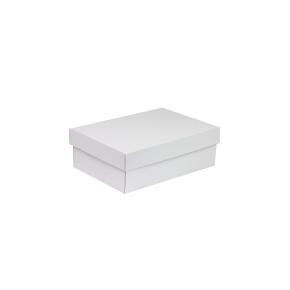 Darčeková krabica s vekom 300x200x100 mm, biela