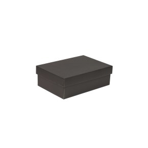 Darčeková krabica s vekom 300x200x100 mm, čierna