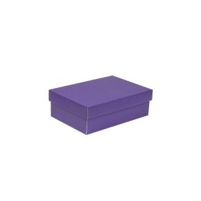 Darčeková krabica s vekom 300x200x100 mm, fialová