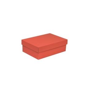 Darčeková krabica s vekom 300x200x100 mm, koralová