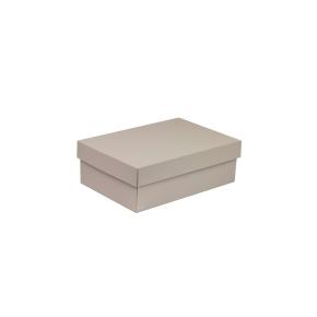 Darčeková krabica s vekom 300x200x100 mm, sivá
