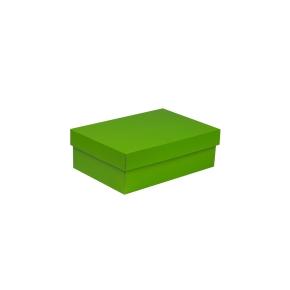 Darčeková krabica s vekom 300x200x100 mm, zelená