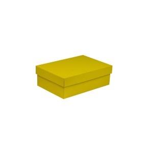 Darčeková krabica s vekom 300x200x100 mm, žltá