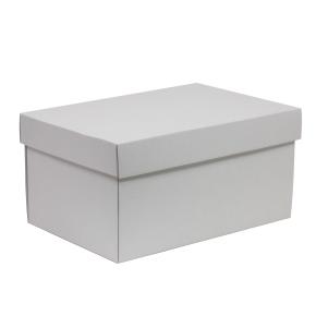 Darčeková krabica s vekom 300x200x150/40 mm, biela