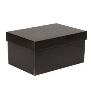 Darčeková krabica s vekom 300x200x150/40 mm, čierna