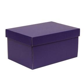 Darčeková krabica s vekom 300x200x150/40 mm, fialová