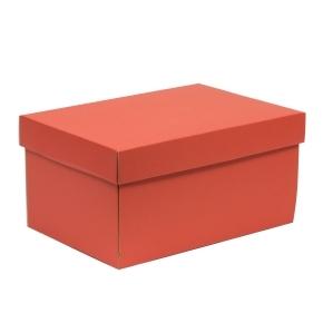 Darčeková krabica s vekom 300x200x150/40 mm, koralová