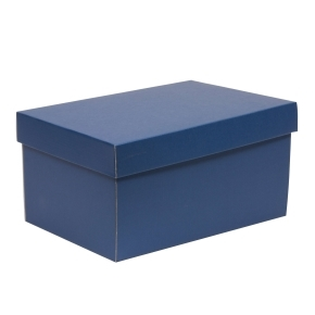 Darčeková krabica s vekom 300x200x150/40 mm, modrá