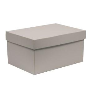 Darčeková krabica s vekom 300x200x150/40 mm, sivá