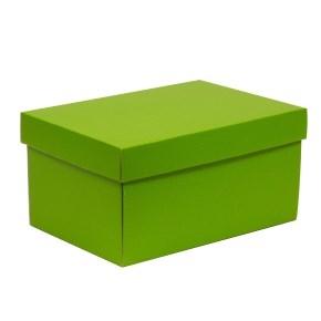 Darčeková krabica s vekom 300x200x150/40 mm, zelená