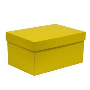 Darčeková krabica s vekom 300x200x150/40 mm, žltá