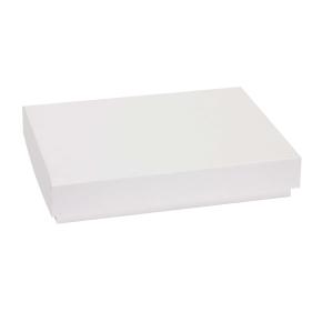 Darčeková krabica s vekom 300x200x50 mm, biela