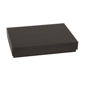 Darčeková krabica s vekom 300x200x50 mm, čierna