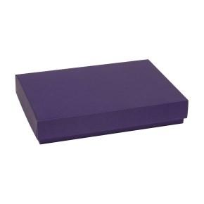 Darčeková krabica s vekom 300x200x50 mm, fialová