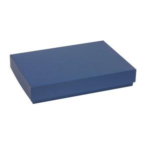 Darčeková krabica s vekom 300x200x50 mm, modrá