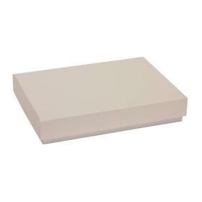 Darčeková krabica s vekom 300x200x50 mm, sivá