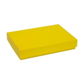 Darčeková krabica s vekom 300x200x50 mm, žltá