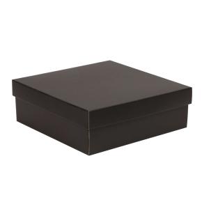 Darčeková krabica s vekom 300x300x100/40 mm, čierna