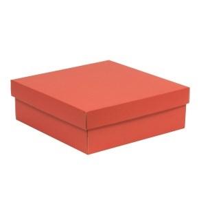 Darčeková krabica s vekom 300x300x100/40 mm, koralová