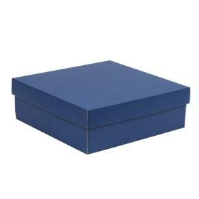 Darčeková krabica s vekom 300x300x100/40 mm, modrá
